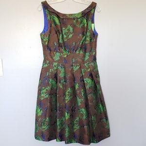Anthro Eva Franco jacquard dress